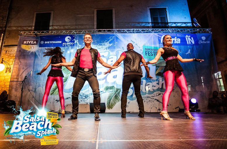 Caramelo Cha Cha Boogaloo Student Team Performance - Salsa Beach Splash 2014